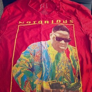Notorious BIG Vintage Tee Shirt Medium Red
